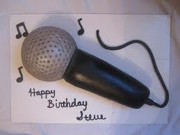 how to make a microphone cake