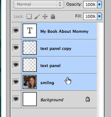 Recycled crafts:  boardbook diy Photoshop text
