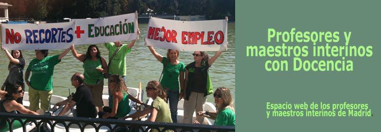 Plataforma de profesores y maestros interinos de Madrid