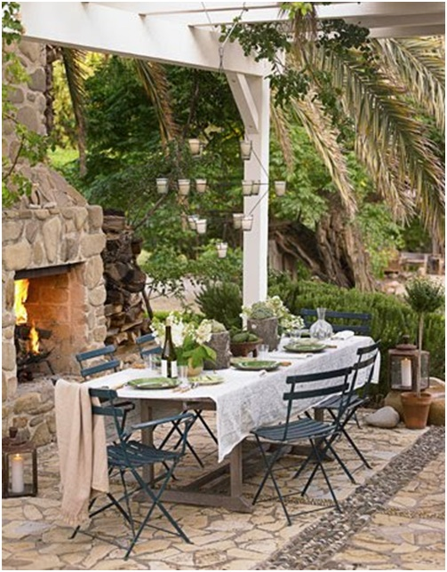 Pergola or arbour in a garden or terrace garden for Terrace pergola