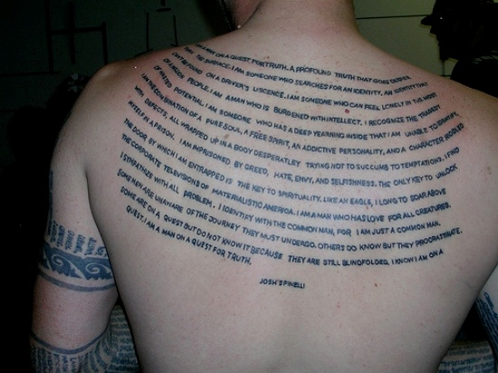 Meaningful quotes for tattoos for Meaningful quote tattoos