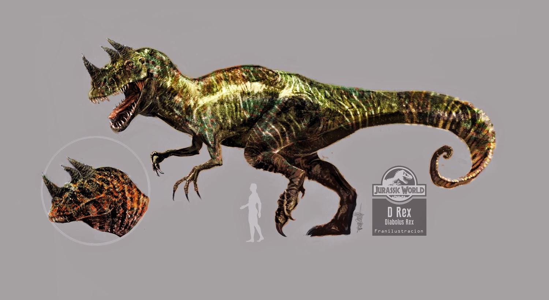 Fran Ilustración: D-rex Diabolus rex dinosaur Concept art ...
