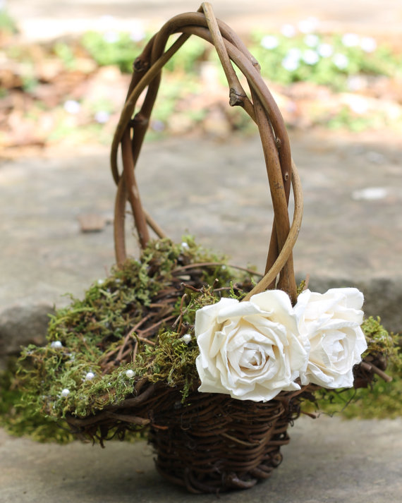 Flower Baskets Wedding : Honey buy wedding flower girl baskets
