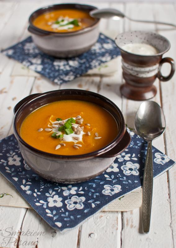 Kremowa zupa z dyni marchewki