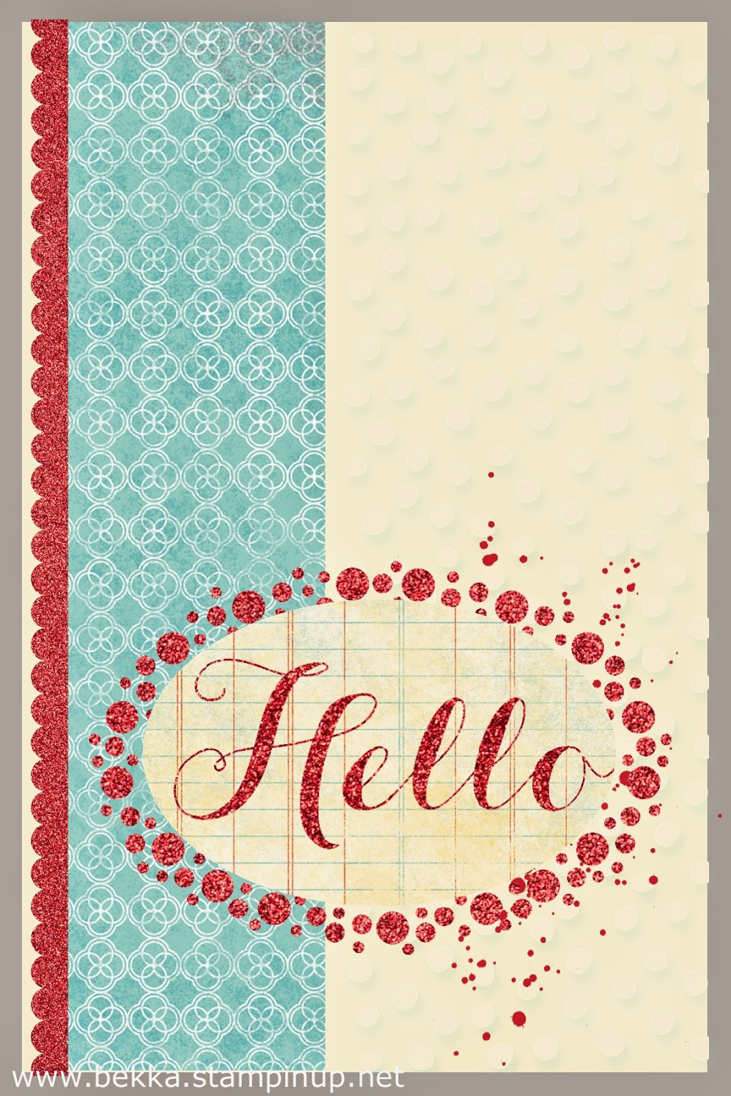 Cute Digital Hello Card by Stampin' Up! UK Independent Demonstrator Bekka Prideaux