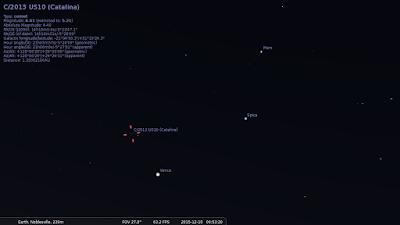 comet catalina stellarium