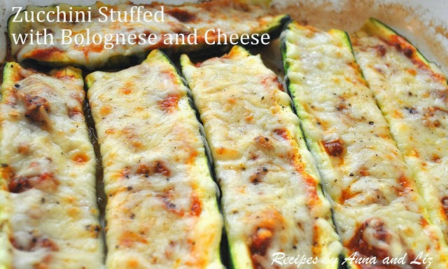 Zucchini Stuffed with Bolognese
