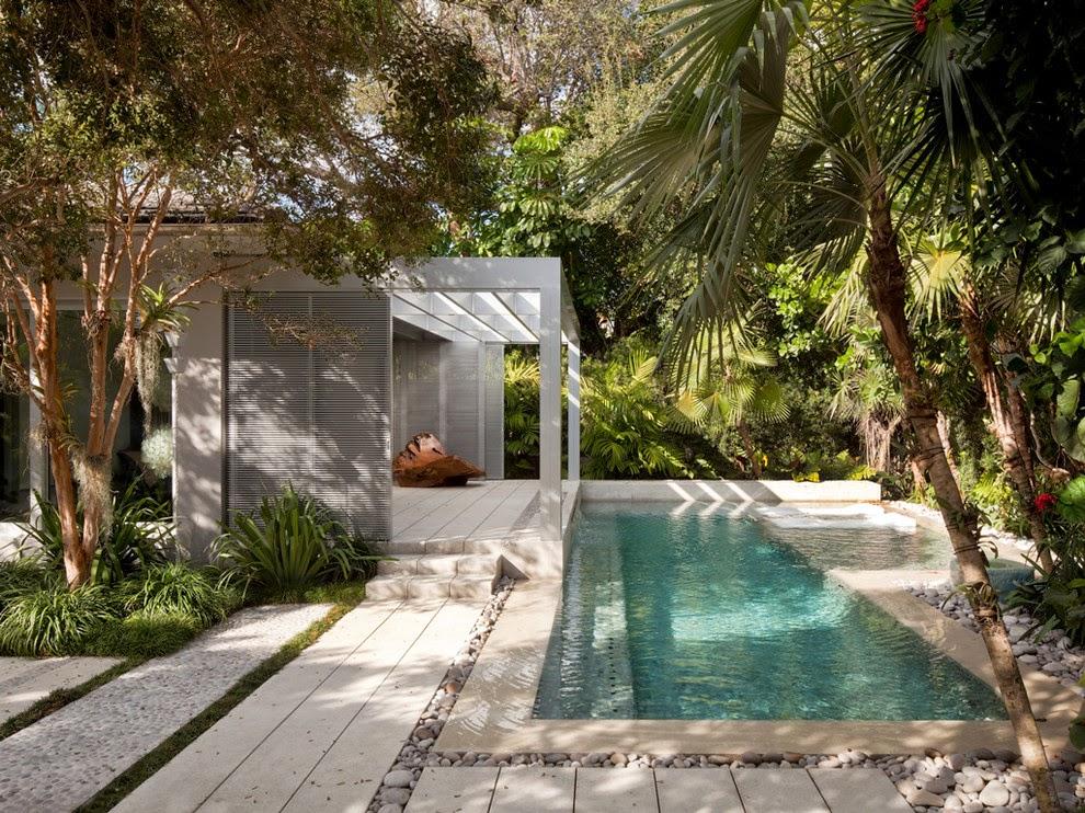 Modern tropical landscape design for Modern pool designs