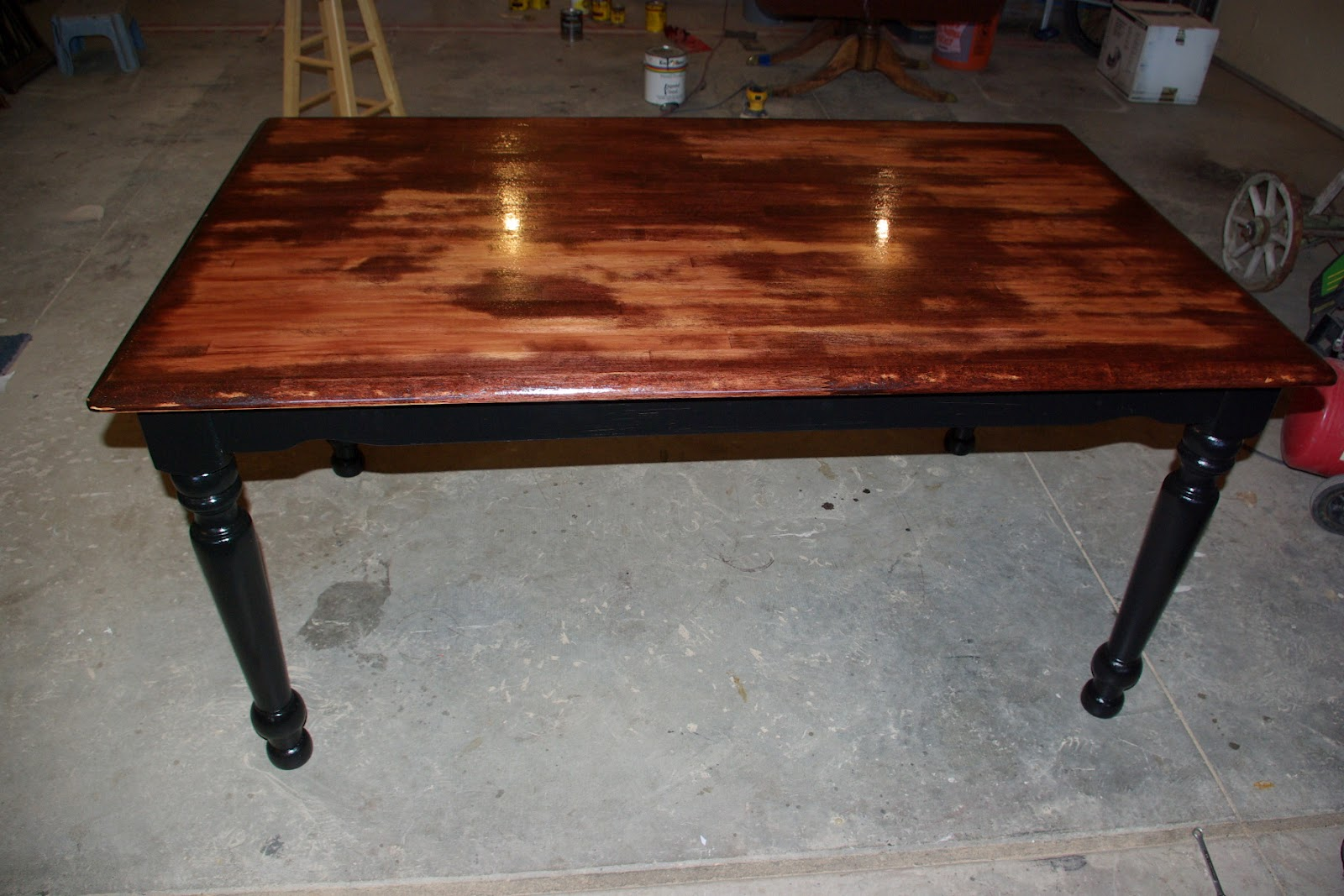 distressed kitchen table - Maple Kitchen Table