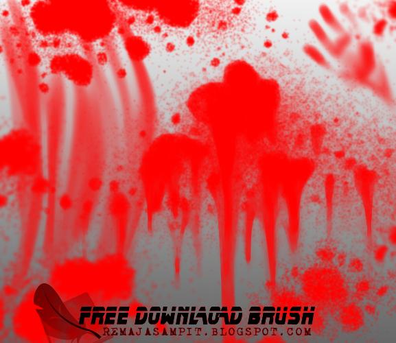 Brush Darah Abstrak Photoshop