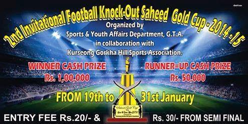 Saheed Gold Cup 2014 to begin soon in Kurseong