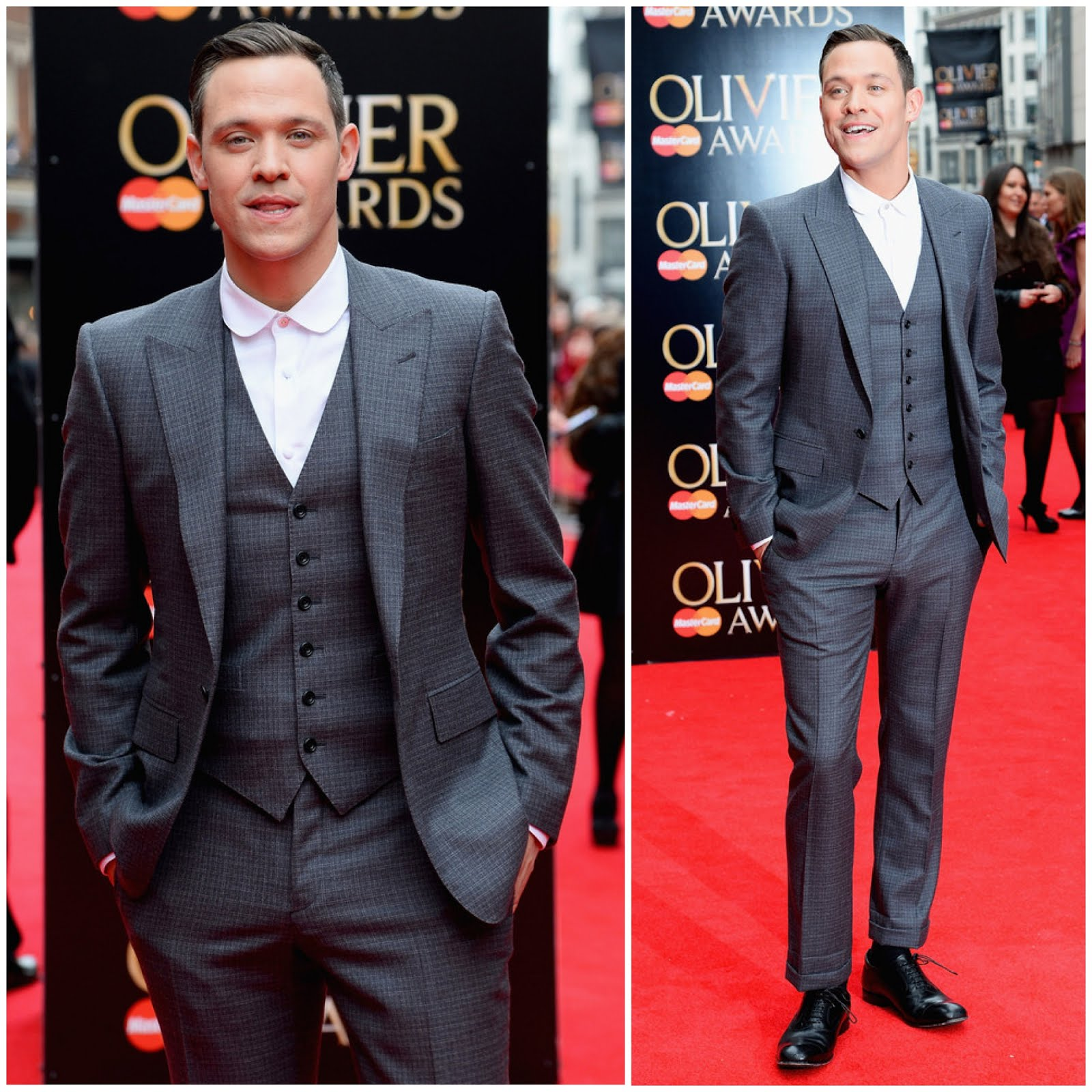 00O00 Menswear Blog: Will Young in Hardy Amies Fall Winter 2013 - 2013 Lawrence Olivier Awards April 2013