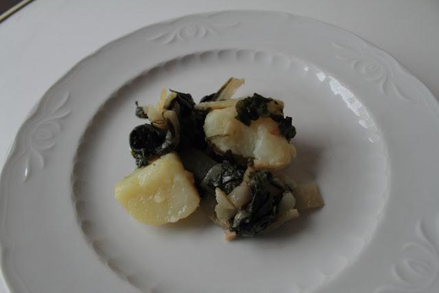 Acelgas rehogadas con aceite de oliva virgen extra