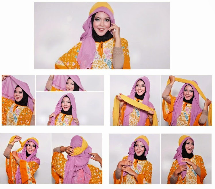 tutorial jilbab paris 2 lapis