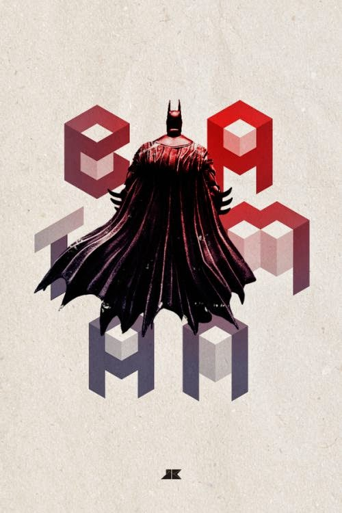 Josip Kelava typographic illustrations super heroes villains comics games movies Batman