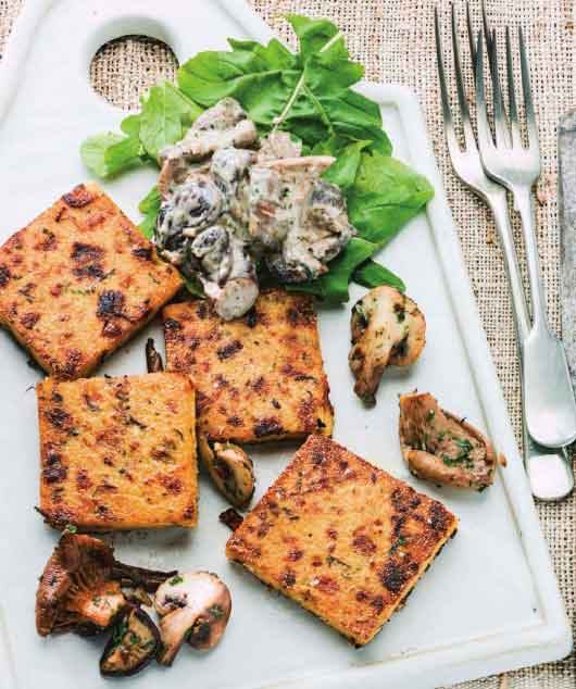 ... and Cooking: Sundried Tomato Grilled Polenta With Mushroom Ragout