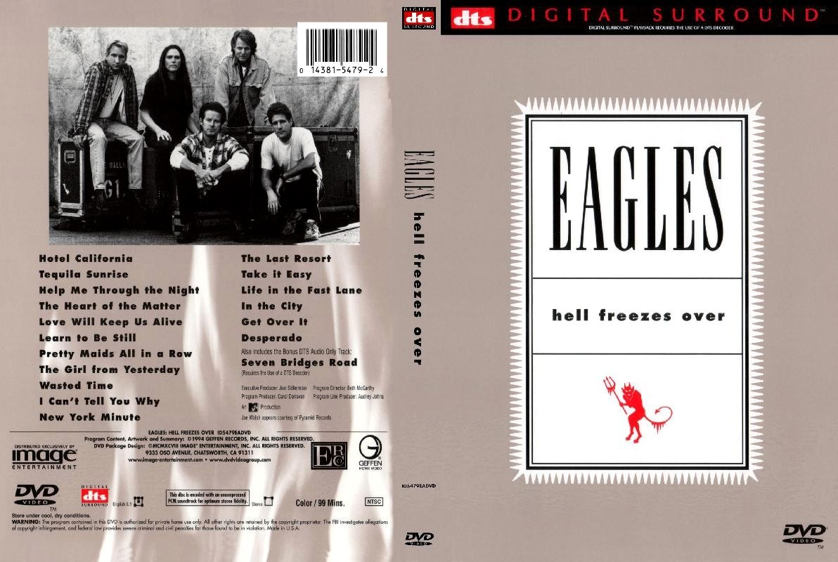 Cat logo dvd m sica eagles hell freezes over for 1980 floor show dvd