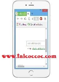 Cốc Cốc cho điện thoại Android, IOS, Windows Phone