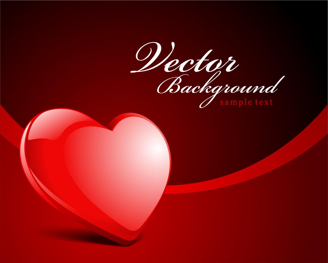 バレンタインデーのハート型背景 valentine day heartshaped texture vector background イラスト素材1