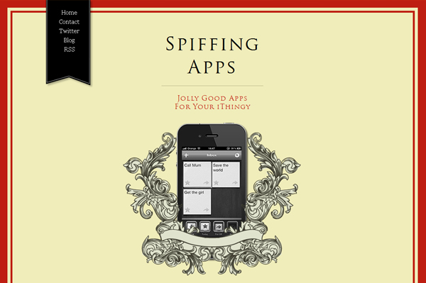Spiffing Apps: iphone application website