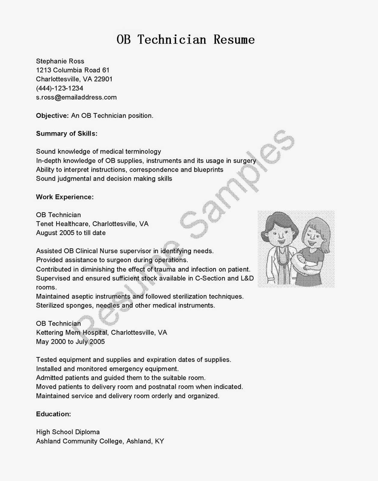 best of ob technician sle resume resume daily