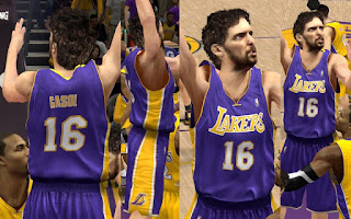 NBA 2K13 Los Angeles Lakers Away Jersey