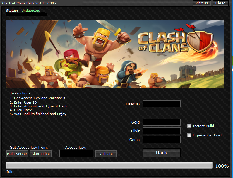 how to get hacked clash of clans on ios