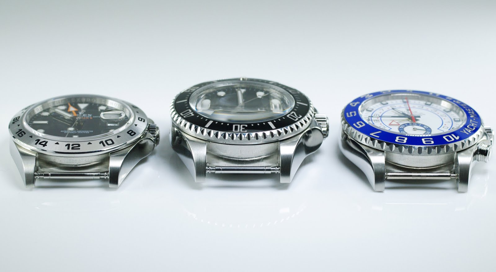 Rolex's Largest Professional Watch Cases Compared