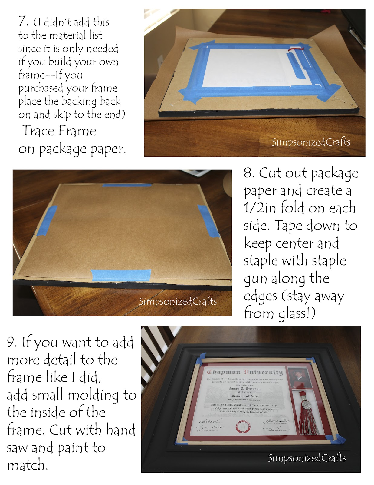 as you noticed i did make my own frame as well and will post a tutorial on that soon - Diploma Tassel Frame