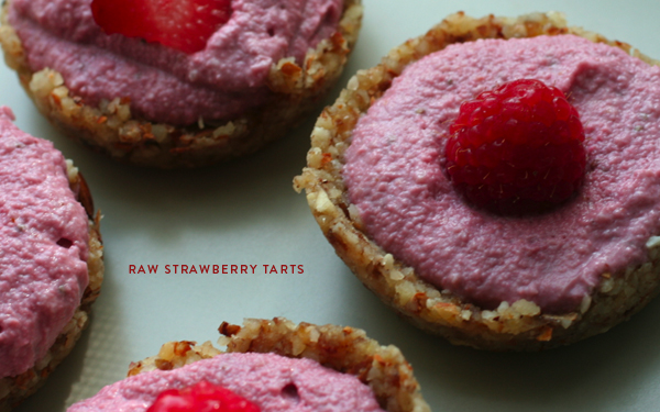 Adrienneats: A raw strawberry tart with a side of perseverance