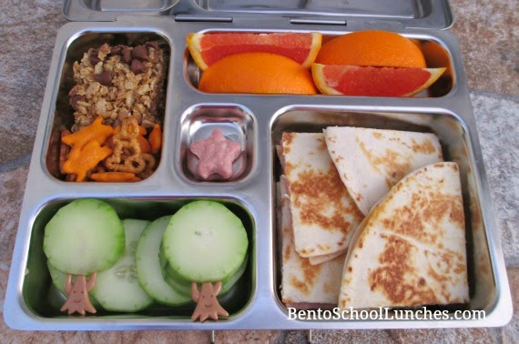 Quesadilla bento school lunch, planetbox