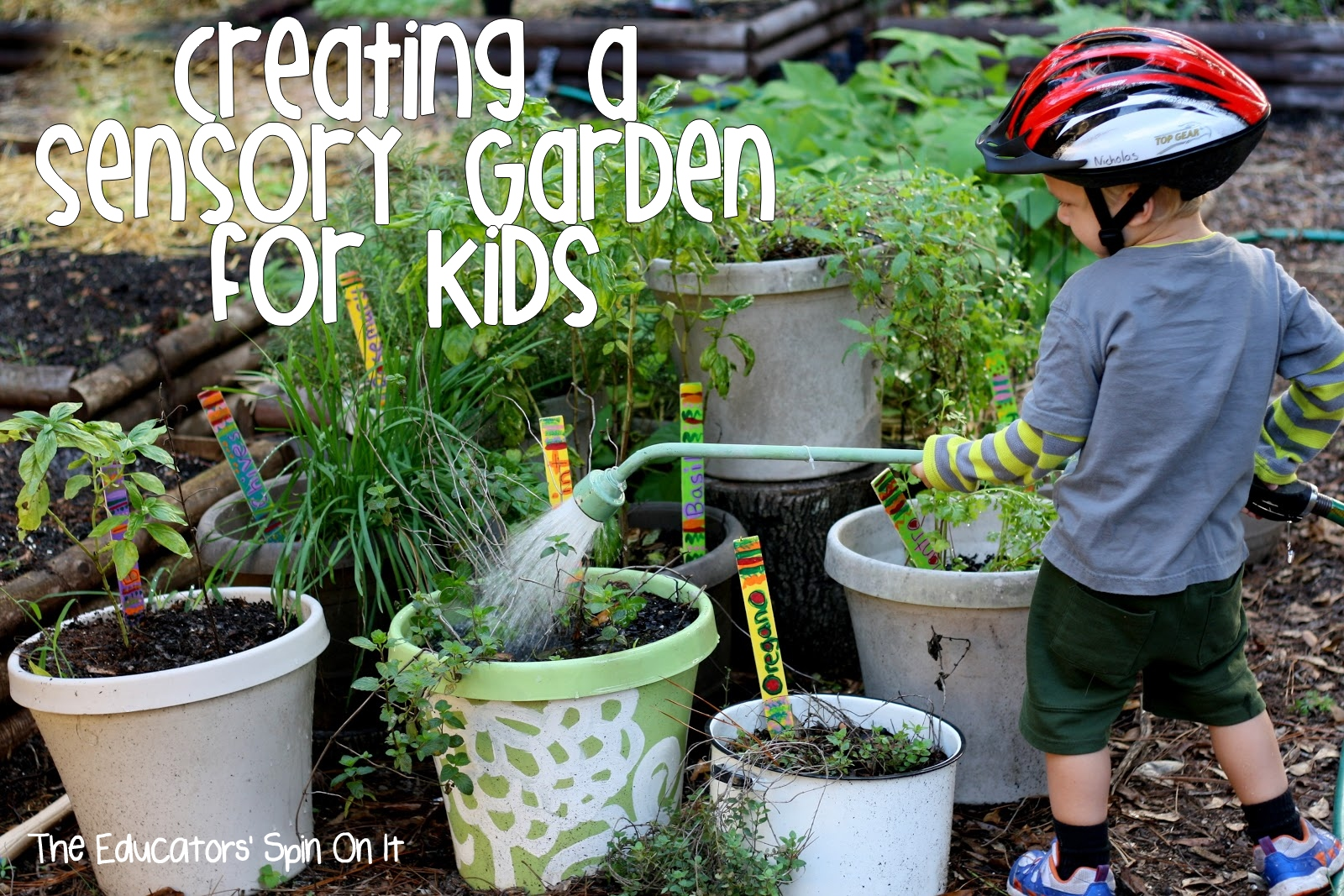 The educators 39 spin on it creating an edible sensory for Gardening tips for kids