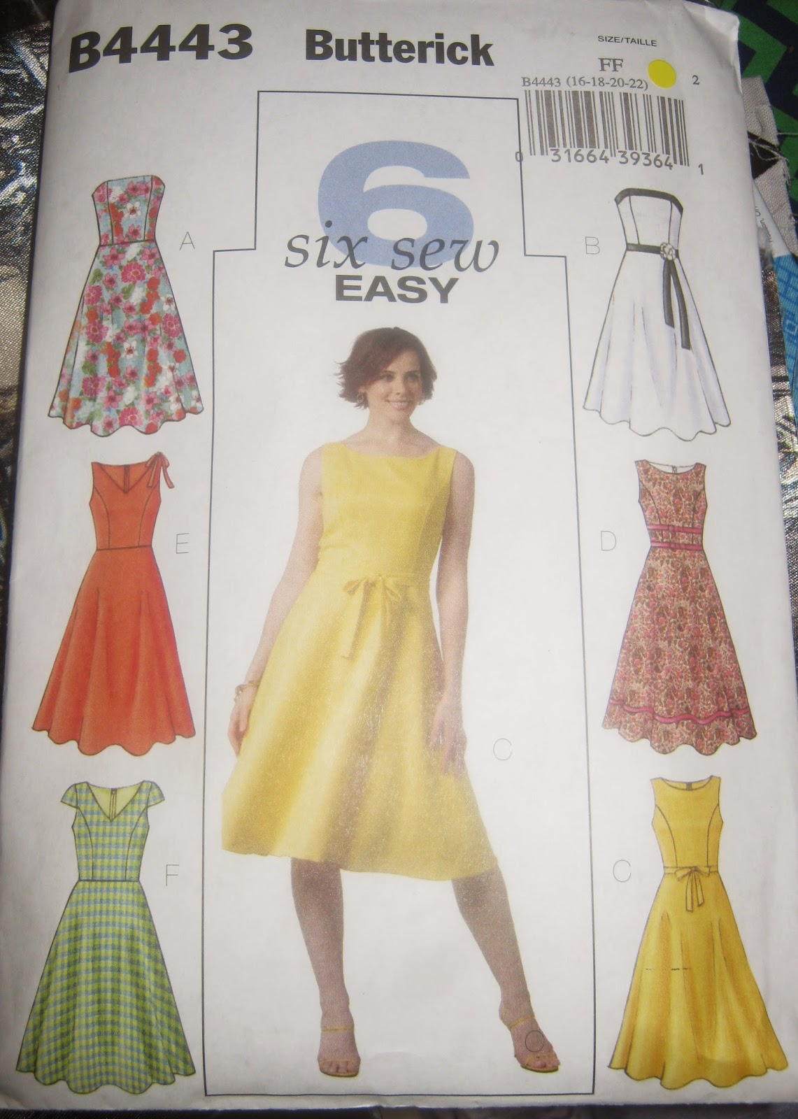 Butterick 4443 Princess Seam Dress Pattern www.sewplus.blogspot.com