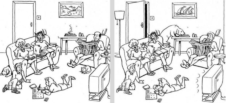 Encuentra las diferencias dificiles para ni os imagui for Diferencia entre halla y living room