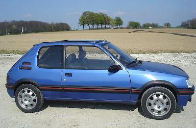 coches de los 80 peugeot 205 gti azul