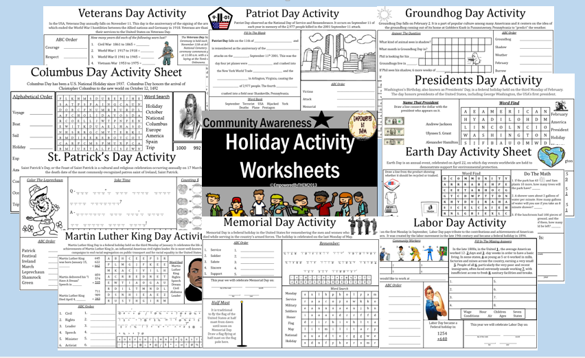 Empowered By THEM September 2014 – Patriot Day Worksheets
