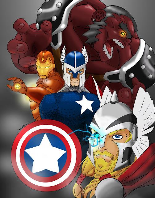 BA: Medieval Avengers por HASHbrown-TM