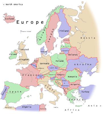 Carte de Europe Departement Région