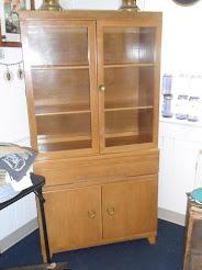 Vintage Maple China Cabinet