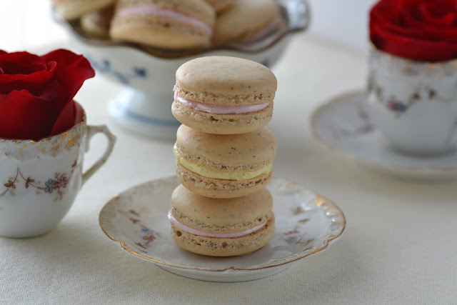 Earl Grey and Honey Rosewater Macarons