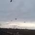 Unos 10 helicópteros Mi-24 Hind rusos habrían sido filmados entrando al espacio aéreo de Ucrania sobre Crimea