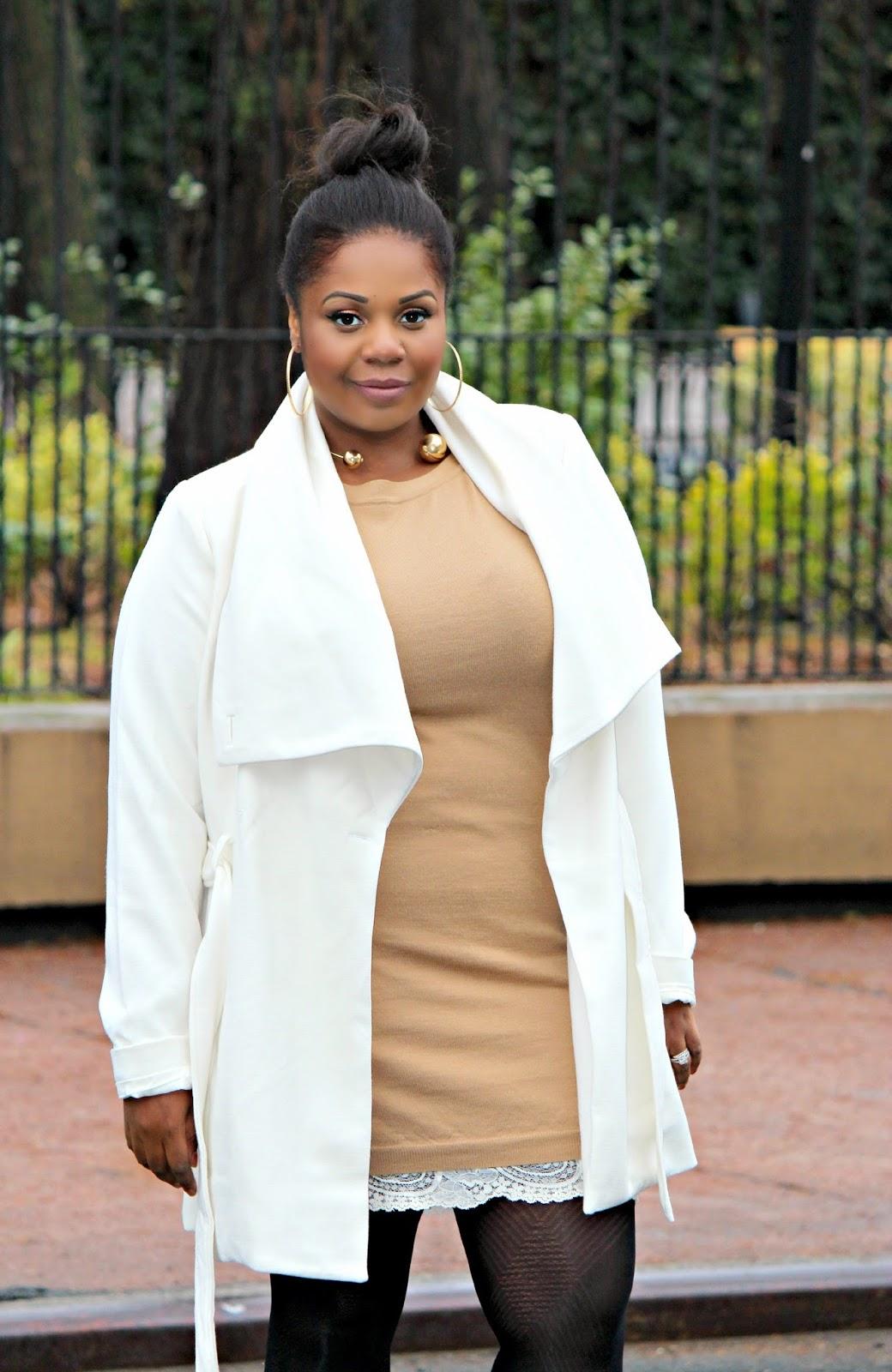 robe wide lapel wool coat Belted Shawl Collar Coat