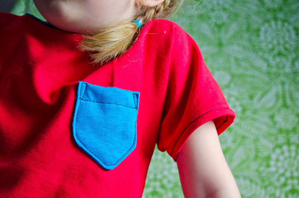 Jill Made It | Simple Shirt for Kids  with Pocket