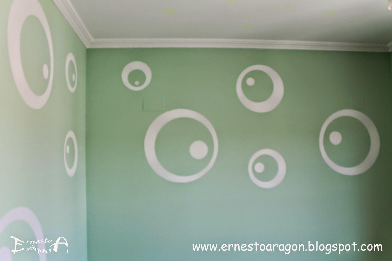 Ernesto arag n pintura para el hogar circulos blancos - Color de pintura para habitacion ...