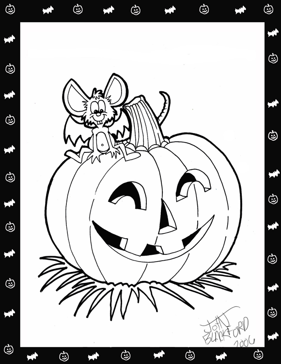 Scary Pumpkin Coloring Pages title=
