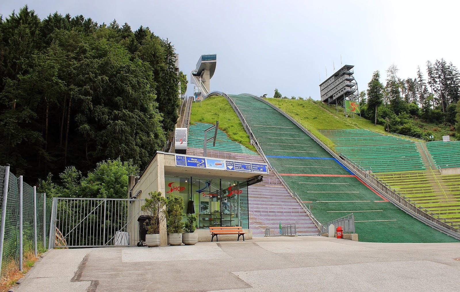 Punkt widokowy w okolicach skoczni w Innsbrucku
