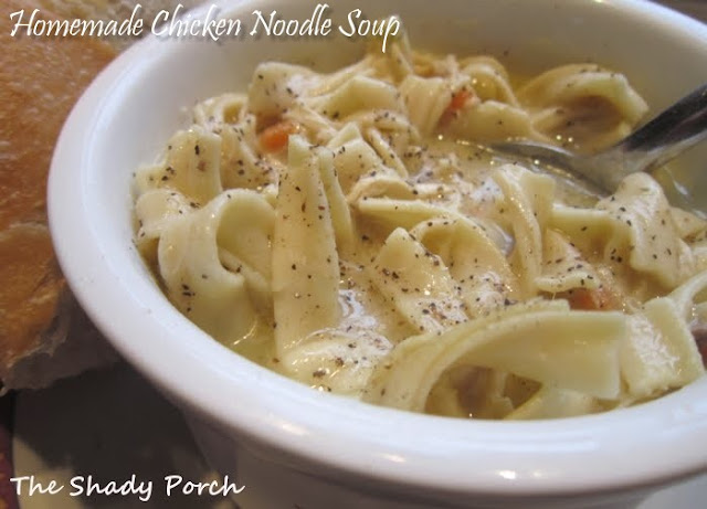 Creamy Chicken Noodle Soup #chicken #soup #healthy #dinner #easy