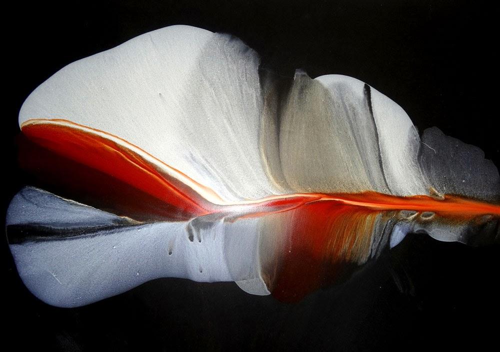 liquid acrylic paintings on stone paper