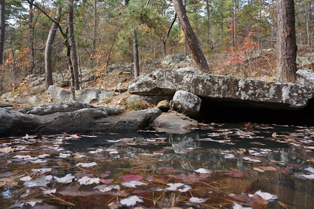 clear mountain pool at robbers cave ok