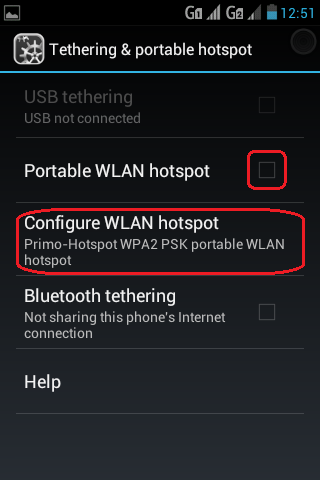 Activate Portable Hotspot for WiFi Keyboard
